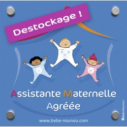 "Plaque de porte ""Assistante Maternelle"" - Destockage"