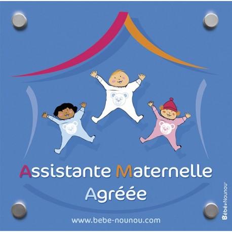 """Plaque de porte """"Assistante Maternelle"""""""
