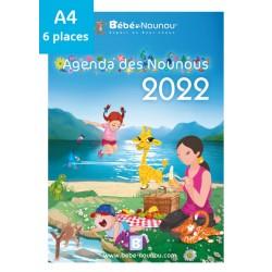 Agenda des Nounous 2022 A4 (6 enfants)