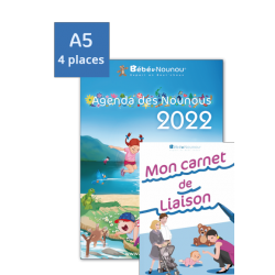 Agenda des Nounous 2022 petit format (4 enfants) et le nouveau Cahier de Liaison !