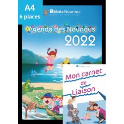 Agenda des Nounous 2022 grand format (6 enfants) et le nouveau Carnet de Liaison !