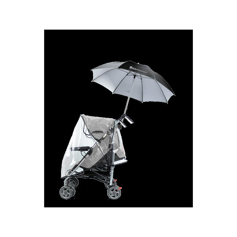 Parapluie de poussette mains libres