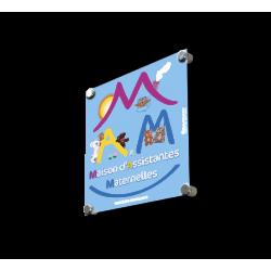 """Plaque de porte """"MAM"""" (Maison Assistante Maternelle) plexi"""