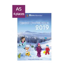 Agenda des Nounous 2019 A5 avec rabat (4 enfants)