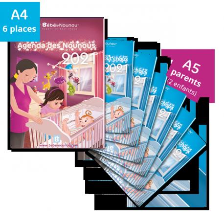 Pack Agendas 2021 - 6 enfants