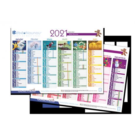 Calendrier 2021 détail