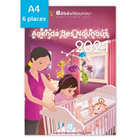 Agenda des Nounous 2021 A4 (6 enfants)