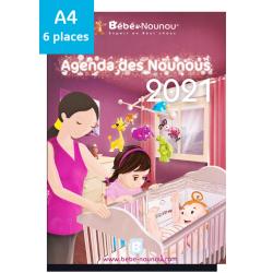 Agenda des Nounous 2021 A4 avec rabat (6 enfants)