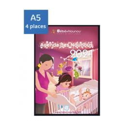 Agenda des Nounous 2021 A5 avec rabat (4 enfants)